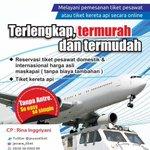 Cari tiket promo pesawat / kereta? Hubungi @JawaraTiket utk tau best pricenya | Pin 748F2605 SMS/WA 083838000089 http://t.co/Ia2XGaF3HB