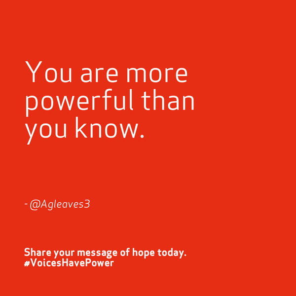 The reason #WhyIStayed wasn't stronger than the reasons #WhyILeft. Find your strength. #VoicesHavePower http://t.co/5aSWF9S4M2