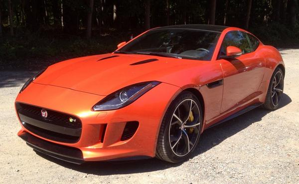 Out driving a @JaguarUSA F-type. Must say, the supercharged V8 is grrrrrr-owing on me http://t.co/stJXjTuQNg