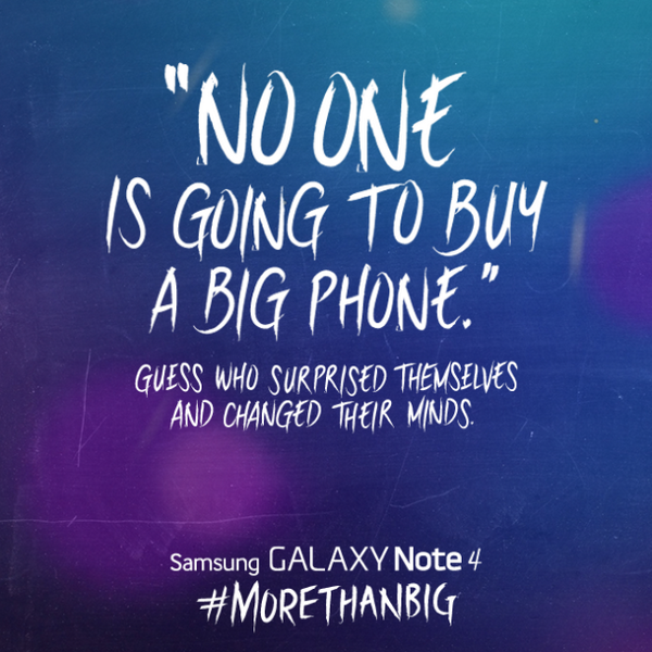 In wake of iPhone 6 launch, Samsung takes to Twitter with the last laugh about big phones http://t.co/W18J8gIfiJ http://t.co/L4lee50uVt