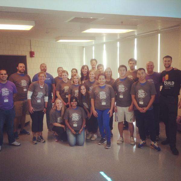 The team at Charlestown HS for @BUILDinBoston  #techgivesback @SVB_Financial @TUGGorg @ConstantContact @Bullhorn http://t.co/gFQP1XDY6g