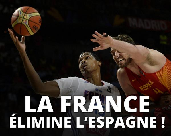 La France élimine l'Espagne chez elle !!! http://t.co/h3nLgrU4Gn http://t.co/TwgHqxqqUk