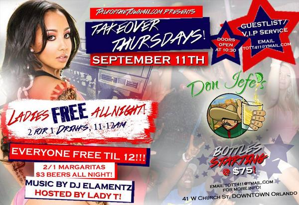 Orlando, can't wait to see u tomorrow @ the NEW THURSDAY PARTY! Meet us @ DON JEFES on Church St! EVERY1'S #FREE! http://t.co/GpzQ1zfHjD