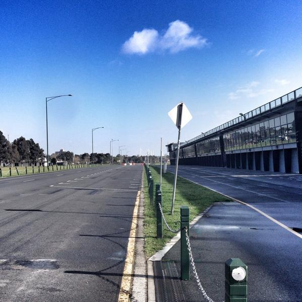 Albert Park startline looking a little quieter than in March! #F1 #Melbourne http://t.co/odtb1Xx1Ba