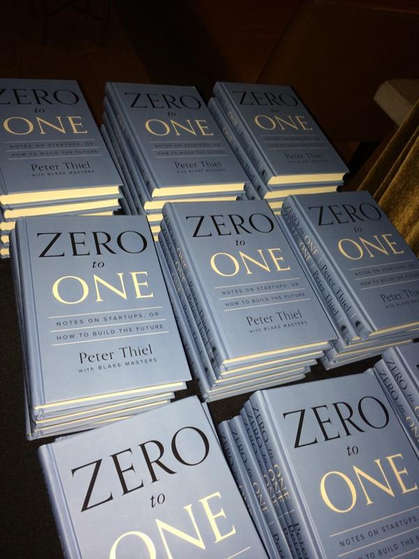 Congratulations @peterthiel on Zero to One! http://t.co/UgWVCCKfcI