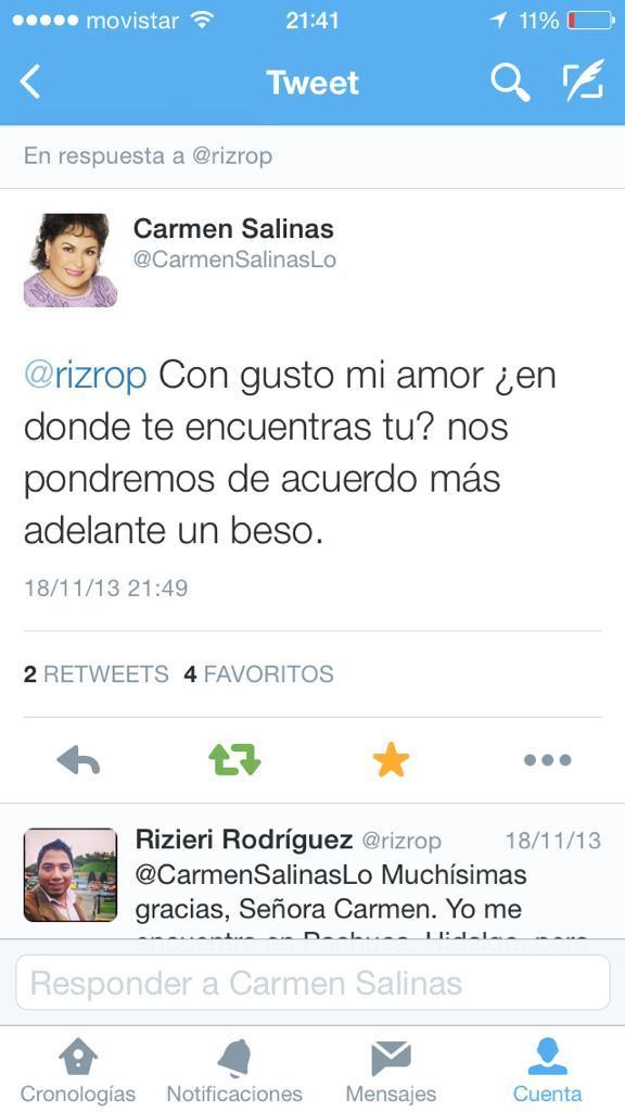 @CarmenSalinasLo Hace casi un año me dijo que sí. Ojalá podamos concretar la entrevista, sería genial. Quedo de ud. http://t.co/pWXr4mxBWy