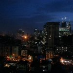 View from my office at night. Looks a bit like Manhattan skyline, no? Pic courtesy: Deepak Lokande http://t.co/cPble5GNQe