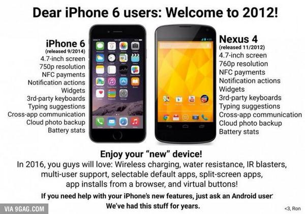 Google calls the Apple iPhone 6 a redundant 2012 phone with ancient specs! What do you guys think? http://t.co/R4tzlTSRrV