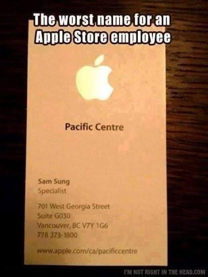 The very worst name an Apple employee could ever have..and he is REAL http://t.co/oKAHQQOxmF