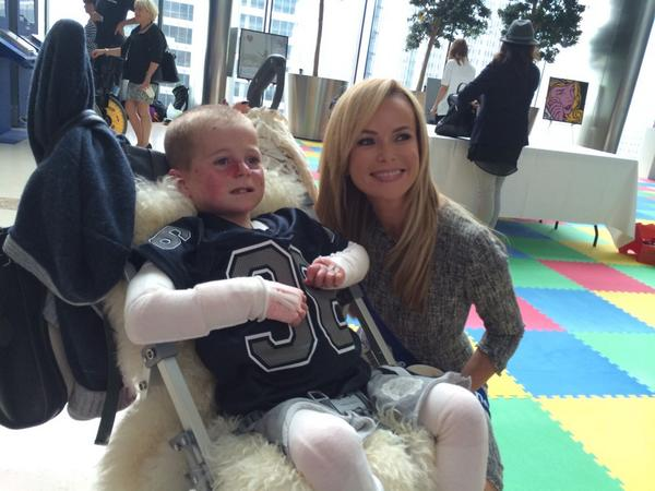 At the #BGCCharityDay with the Sohana Research Fund  @SohanaResearchF. Here's Amanda Holden with Mason: http://t.co/NuPjad3ucE