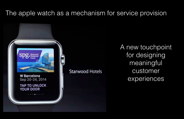 Apple watch as a mechanism for service provision: A new touchpoint for #serviceinnovation and #ServiceDesign http://t.co/XsoZ35MQkZ