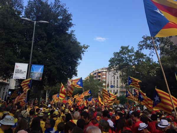 We want to vote! 300 yrs since they lost it, many thousand Catalans demand independence #Diada2014 http://t.co/9tn3h9rlu1