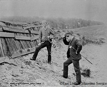 #throwbackthursday Ben Sayers stuck in a bunker in North Berwick in 1900. @golfeastlothian @Golf_E_Lothian #tbt http://t.co/DNxdUXRcCp
