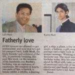 .....in the name of the father for the son :) Lov yu @RuchirLModi