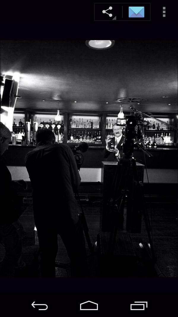 Recording a new tasting video for @DalmoreWhisky today #behindthescenes #whisky (PR) http://t.co/TBkWF5hHGa