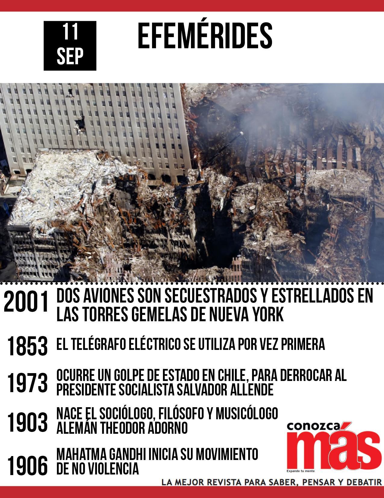 Un día como hoy, pero de 1973, ocurre un golpe de Estado en Chile. Más efemérides aquí: http://t.co/D0RkeRjwSr