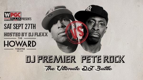 #DMV @WPGC Presents The Ultimate DJ Battle on 9-27-14  @REALDJPREMIER vs @PeteRock http://t.co/yEmz2Nh9tO