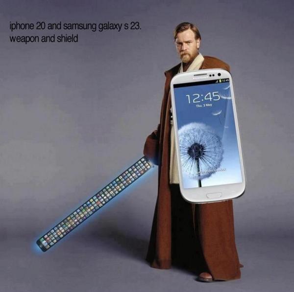 Si la tendance se poursuit, d'ici quelques années, voila ce qu'on pourra faire avec un iPhone 20 et un Galaxy S 23 : http://t.co/PDQ3MKA0j8