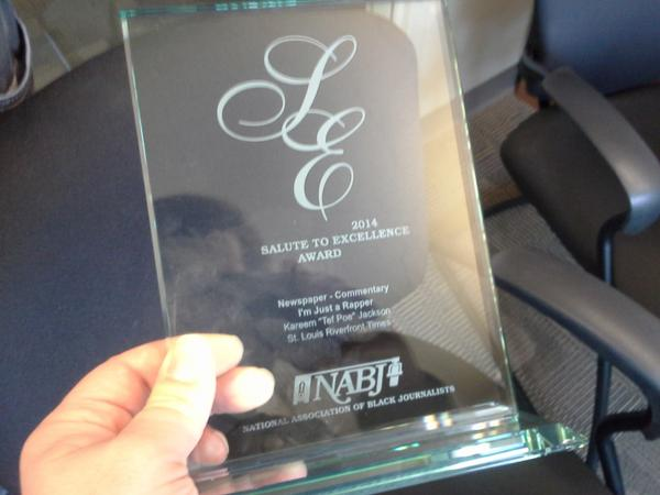 Congrats to our own @TefPoe for this recognition by the National Association of Black Journalists for his column! http://t.co/BJqKoUhVWO