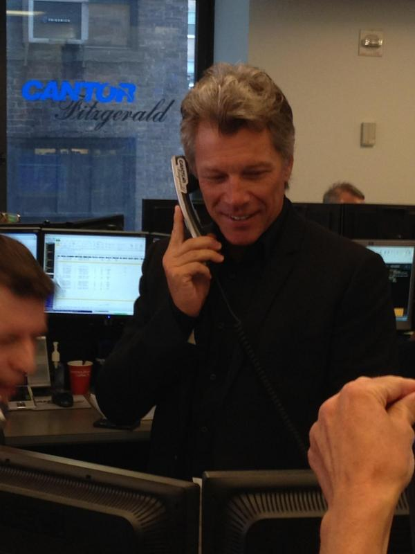 Jon Bon Jovi had a great time making trades as a part of @CFCharityDay! 100% of today's proceeds donated to charity. http://t.co/catw5JJptX