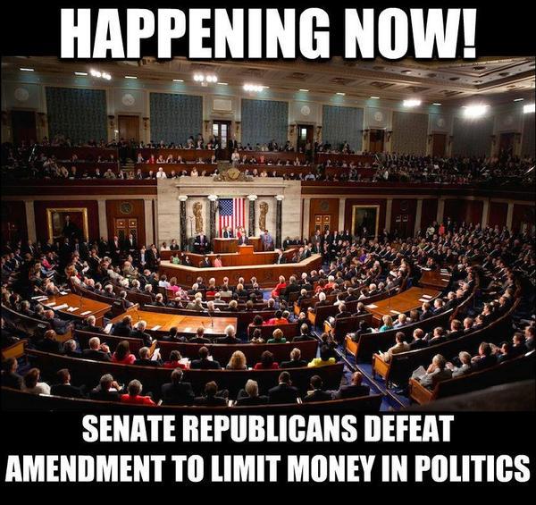 BREAKING: 42 Republican Senators block amendment to overturn #CitizensUnited and #GetMoneyOut (via @USUncut) http://t.co/I3X7qooLty