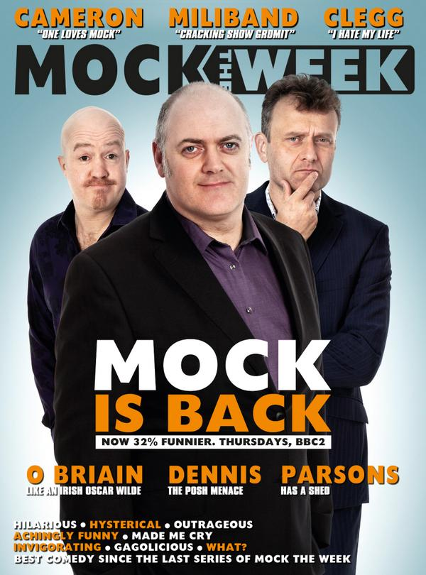 So yes, Series 13 gets back into gear tonight, 10pm on @BBCTwo (10:30 in Scotland and 11:40 on @BBCTwoNI) #MockIsBack http://t.co/m4vj1GXISd