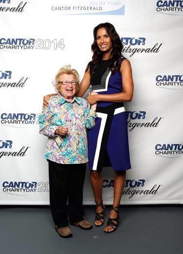 Padma Lakshmi @padmalakshmi: Prom pic with @AskDrRuth at the #CFCharityDay. Proud to attend with @drseckin & @endofound to support a great cause! http://t.co/lcJjei4AgI