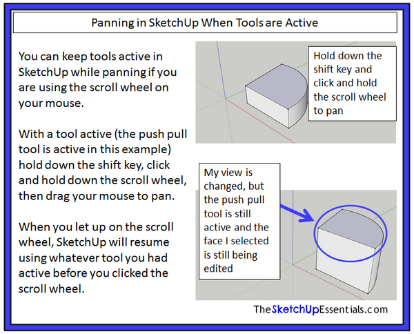 Resuming tool useage after using the pan tool in #SketchUp http://t.co/Ru8loPK9nN