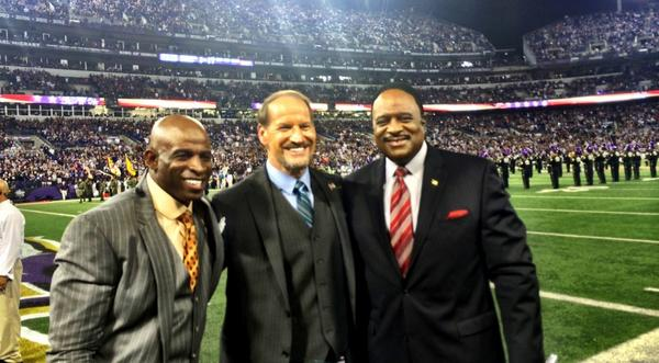 What a seat I had to see these two bring the juice to #TNF @DeionSanders @CowherCBS @CBSSports http://t.co/xSUwVHJTSn