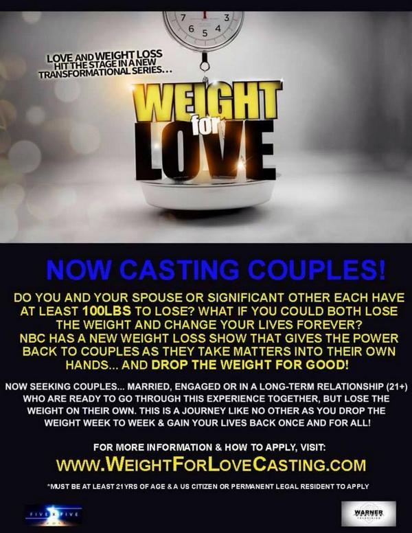 Wish there was a NON-Competition show like #biggestloser where U could lose wt? There is! Apply NOW for @weight4love http://t.co/ZSyuafVDRI