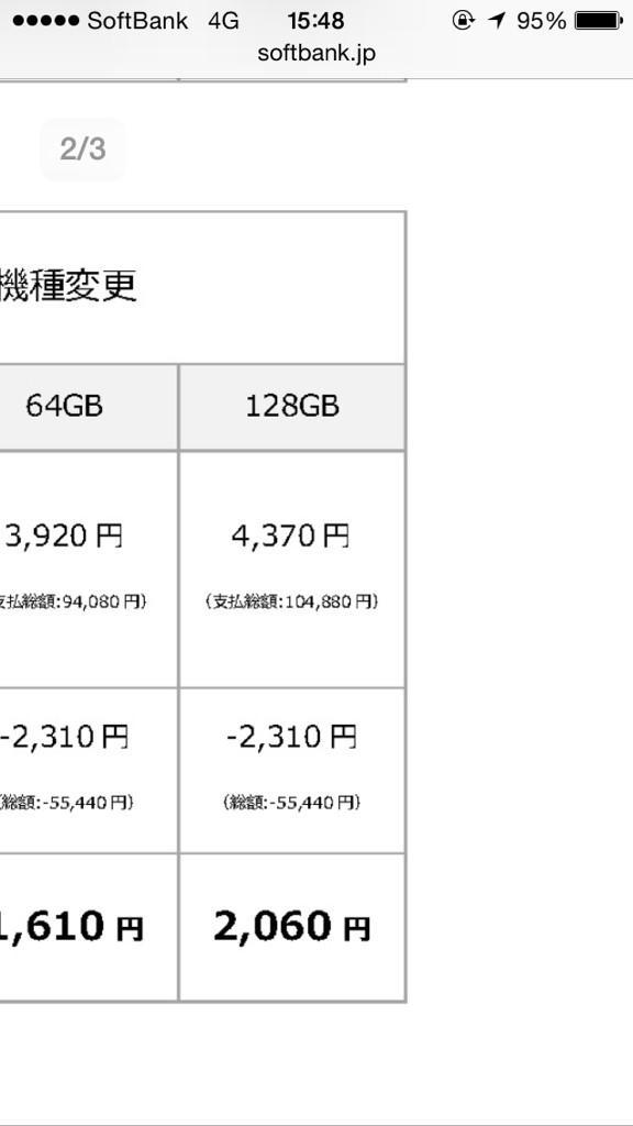 SoftBankショップでiPhone6Plus予約待機。ついでにサイトで価格載ってた http://t.co/wm1nbxyhY8