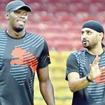 RT @TSDCorp: #CaptionThis click of @usainbolt and @harbhajan_singh :D