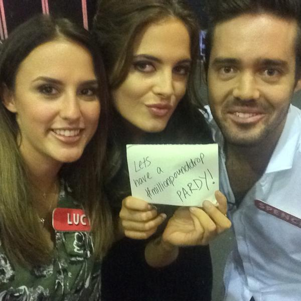 MORNING! Join these #micny faces on the #millionpounddrop TONIGHT. 8pm @SpencerGeorgeM @imLucyWatson @BinkyFelstead http://t.co/Nn9VXtPwuc