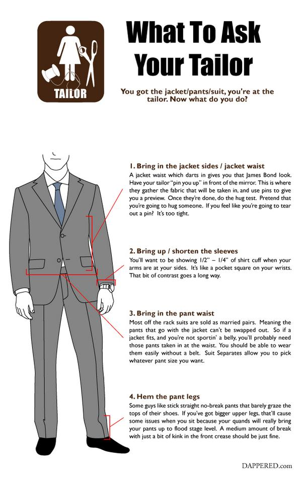 The top 4 things to ask your tailor to do. http://t.co/gGrm9od4Lg http://t.co/NpMxGpgrhL