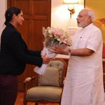 RT @PMOIndia: Tennis player @MirzaSania called on the PM. http://t.co/5DGdAeKMI6