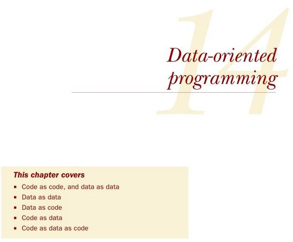 Only a @fogus and @chrishouser book could have such a great chapter description. Code as data as code as data as … http://t.co/lGo5zPy4eT