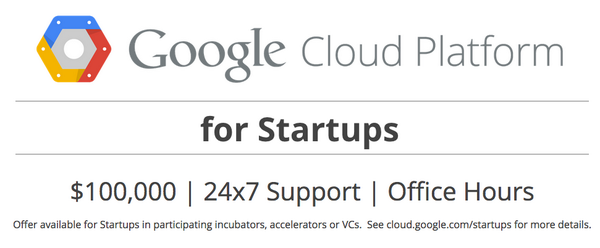 Announcing: Google Cloud Platform for Startups. $100k. 24x7 Support. And more. http://t.co/ckC8zcliJe #startup http://t.co/HG6SbCqM8x