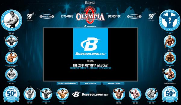 http://t.co/EXpT8jpJ6J Announces Exclusive 2014 Olympia Webcast  http://t.co/SR1Zct8jZ0 @OlympiaWebcast #50thOlympia http://t.co/G5SCUzpIFh