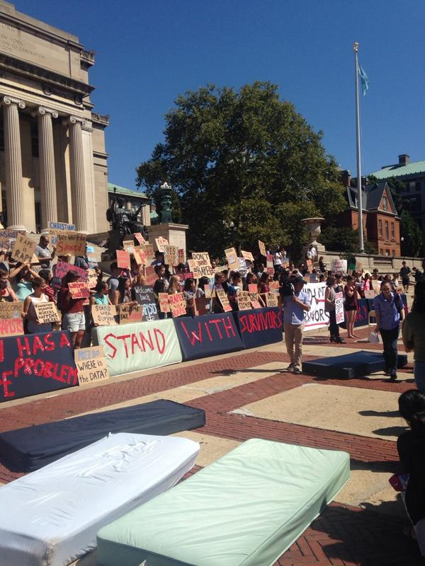 Why students dragged out a dozen mattresses on Columbia's campus today http://t.co/1VtX6yZ4ge http://t.co/bhOTlg3n30