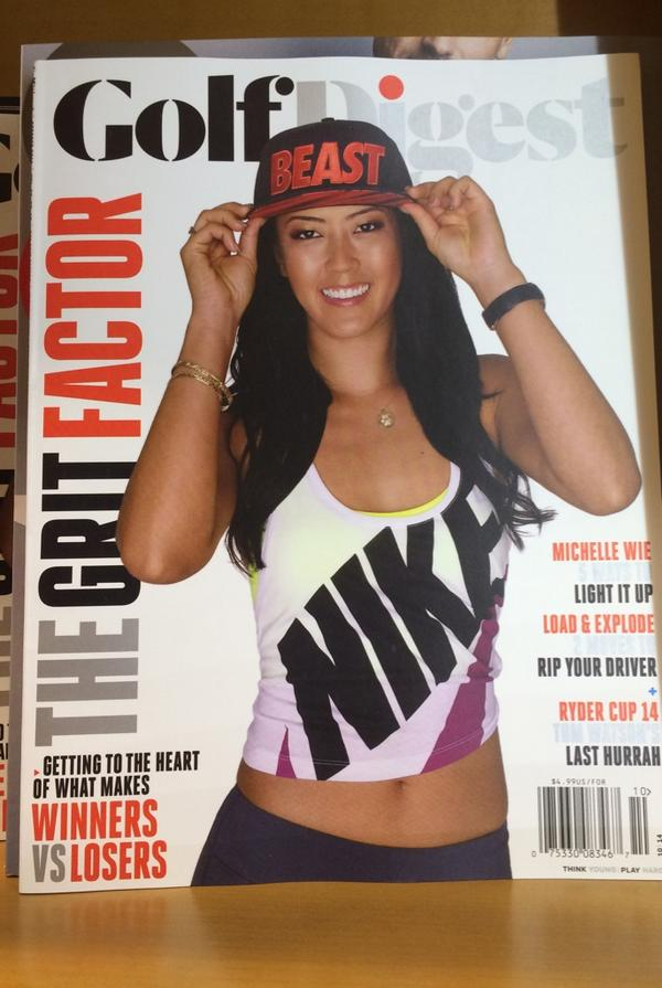RT @natalie_gulbis: Love seeing @themichellewie on the cover of @GolfDigest !!! Great cover!!! http://t.co/i7rxtrEvIC