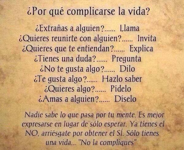¿Por qué complicarse la vida?... http://t.co/UXjWmgmppc
