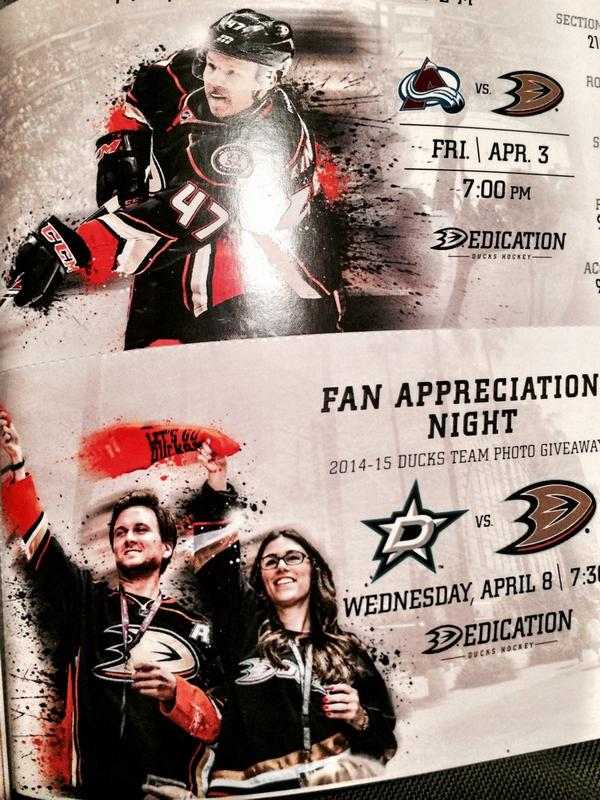 kinda awesome when the @AnaheimDucks send you your season tickets and put your face on the fan appreciation ticket