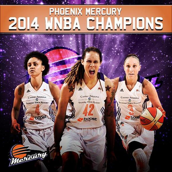 The @PhoenixMercury are your 2014 #WNBAFinals Champions http://t.co/w6YXhYVK7s