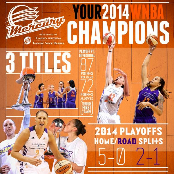 Your @WNBA Champions by the numbers. #GloryArrives #Infographic http://t.co/xMOMXcMUi4