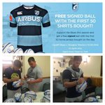 Tomorrows exclusive match day offer and evidence of the squad signing the rugby balls for you! http://t.co/5cgLuxWEKB