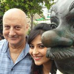 Thanks.:) @Aditidevsharma: Comman man n me wid one of d best actors @AnupamPkher sir who is such a wonderful person.. http://t.co/VvWSAx8smA