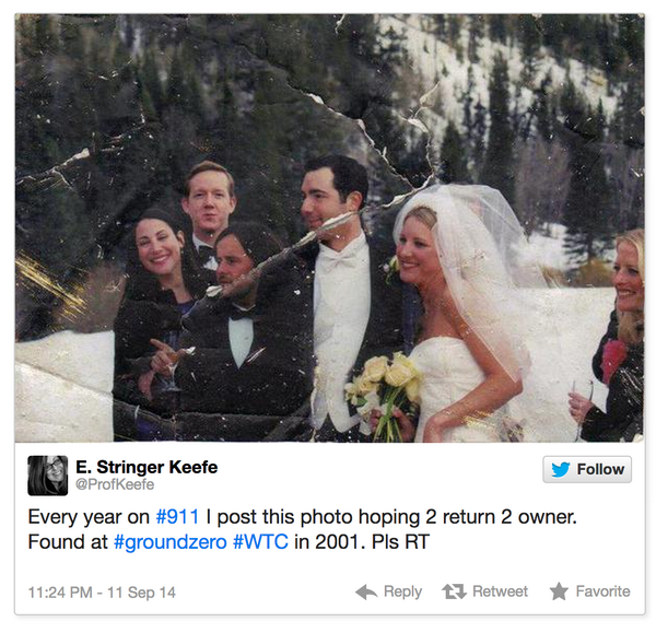Woman's Quest To Find Owner Of Wedding Photo Discovered At Ground Zero Has Amazing Ending http://t.co/BEXk7tu2Nq http://t.co/iAjty8QNBN