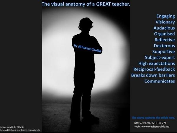 What makes a good teacher? Discuss. #ukedchat #edchat http://t.co/5yAfJ1yq24