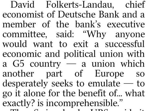 Fantastic line by the chief economist of Deutsche Bank on the madness of voting Yes in the #indyref http://t.co/kLhkp4dHfL