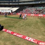 #KFCMiniCricket kids out in force.great fun in the sun with kids http://t.co/Hm6v3rkNy6